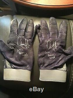 1- Pair Aaron Judge 2016 Pre Rookie Game Used Batting Gloves Signed Auto with COA