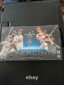 2013 BOWMAN STERLING Baseball Hobby Box -18 Autographs maybe Aaron Judge