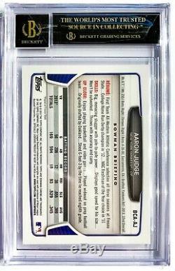 2013 Bowman Chrome AARON JUDGE Auto Autograph BGS 10/10 Pristine BLACK LABEL