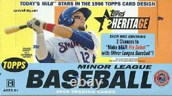 2015 Topps Heritage Minor League Baseball Hobby Box Factory Sealed