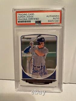 2016 Bowman Draft Aaron Judge #184 Autographed PSA Auto Yankees Rookie RC Signed