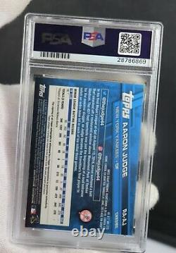 2017 Aaron Judge TOPPS RED CHROME PSA 10 RA-AJ SIGNED AUTOGRAPH CARD ONLY 3 OF 5