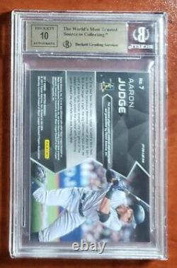 2017 Aaron Judge Ud Inception Red Autographed Rookie Card #112 #19/75 Bgs 9.5
