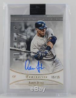 2017 Aaron Judge Yankees Topps Luminaries Autographed Card 05/15