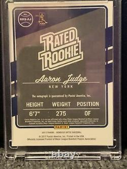2017 Donruss Optic Aaron Judge Rated Rookie Autographed Card