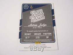 2017 Donruss Optic Rated Rookie Yankees Aaron Judge Rc Signed Auto Nice Sp