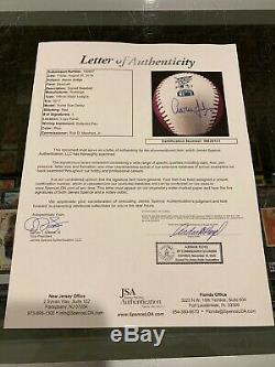 2017 Hr Derby Aaron Judge New York Yankees Single Signed Baseball Jsa Pink