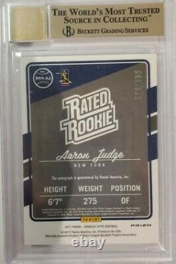 2017 Optic AARON JUDGE Auto RC Rated Rookie HOLO SILVER RC /150 Gem+ BGS 9.5 /10