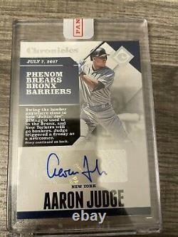 2017 Panini Chronicle Aaron Judge Rookie RC Autograph Auto Yankees Sealed