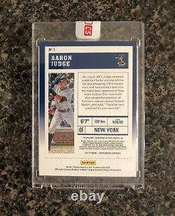 2017 Panini Contenders Rookie Ticket Autograph Aaron Judge #1 New York Yankees