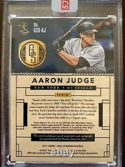 2017 Panini Gold Standard Aaron Judge Auto On Card Dual Patch /199 Sealed