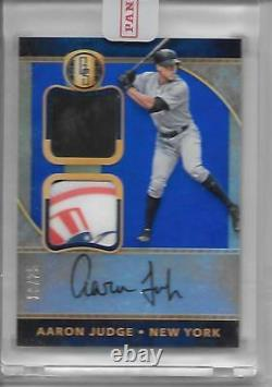 2017 Panini Gold Standard Aaron Judge Rc Patch Auto #10/25 Yankees