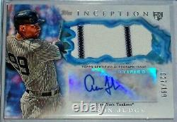 2017 TOPPS INCEPTION AARON JUDGE AUTO/GAME-USED RC #d 027/199 YANKEES PINSTRIPE