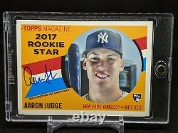 2017 Topps Archives AARON JUDGE 1960 Rookie Star Auto /150 RC #RSAAJ COND NOTE