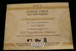 2017 Topps Definitive AARON JUDGE inscription Auto Bronx Bombers Rookie Rc /35