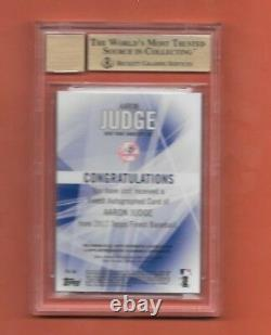 2017 Topps Finest Green Refractor Auto AARON JUDGE Becket Graded 10/10 Signed