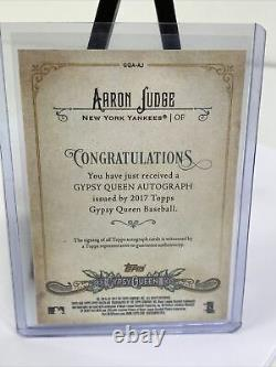 2017 Topps Gypsy Queen Aaron Judge Rookie Autograph RC Auto PSA Ready 10 GQA-AJ