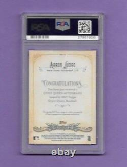 2017 Topps Gypsy Queen Autograph AARON JUDGE PSA Graded Pristine 10/10 Signed