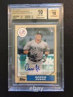 2017 Topps Series 2 Rookie & All Star Edition AARON JUDGE Auto RC Grade 10