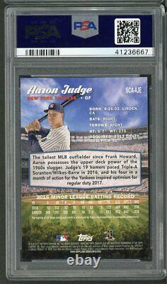 2017 Topps Stadium Club Auto Aaron Judge Rookie Rc #AJE PSA 10 Gem Mint Yankees