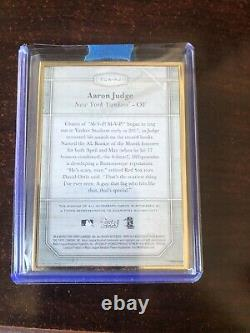 2017 topps transcendent Aaron judge signed card 9/25