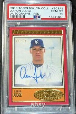 2018 Topps Brooklyn Collection Aaron Judge Auto #d/15 Signed Autograph Psa 10
