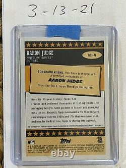 2018 Topps Brooklyn Collection Aaron Judge #d/25 Yankees Auto Signed Autograph