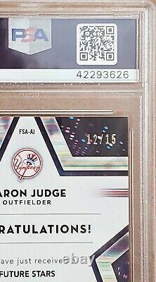 2018 Topps Chrome #AJ Aaron Judge Future Stars SSP #12/15 Auto New York Yankees