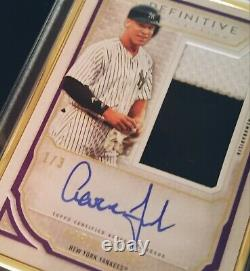 2019 Topps Definitive Autographs Aaron Judge Gold Framed AUTO 1/3 YANKEES MINT+
