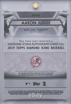 2019 Topps Diamond Icons AARON JUDGE Blue Ink On Card Auto # /10 NY Yankees