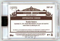 2019 Topps Dynasty Aaron Judge Patch Auto Sealed /10