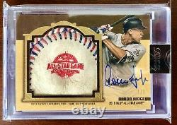 2019 Topps Dynasty Gold 1/1 Aaron Judge DC All Star Game Ball Patch Auto