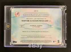 2019 Topps Inception Aaron Judge Patch Auto #23/25 SP New York Yankees Nice