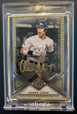 2019 Topps Museum Aaron Judge Gold Framed Gold Ink Auto #6/10 Yankees #MFA-AJU
