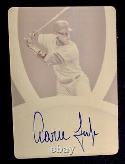 2020 Immaculate AARON JUDGE Printing Plate On-Card Auto Hard-Signed True 1/1