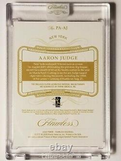 2020 Panini Flawless Aaron Judge Emerald Jersey Patch on card Auto /5