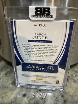 2020 Panini Immaculate Baseball Aaron Judge On Card Auto 5/10 YANKEES