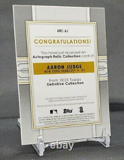 2020 Topps Definitive Collection Aaron Judge Autographed Relic /15