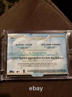 2020 Topps Diamond Icons Aaron Judge Gleyber Torres Dual Patch Auto 5/5