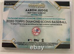 2020 Topps Diamond Icons Autographed Aaron Judge Auto 10/10 Yankees RARE