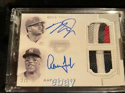 2020 Topps Dynasty Mike Trout / Aaron Judge Dual Auto Patch #2/5