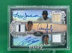 2020 Topps Sterling triple relic patch auto Jackson, Judge, Torres 8/10 NYY