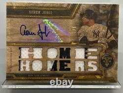 2020 Triple Threads AARON JUDGE #1/1 Wood Relic with pinstripes & Auto WOW