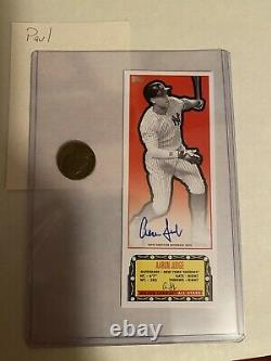 2021 Topps Aaron Judge Autographed Box Topper 5/5