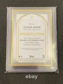 2021 Topps Definitive Gold Frame Auto #DCFA-AJ Aaron Judge #09/15 Yankees