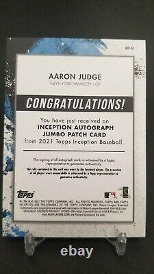 2021 Topps Inception Baseball Aaron Judge Jumbo Patch Auto Case Hit 38/50