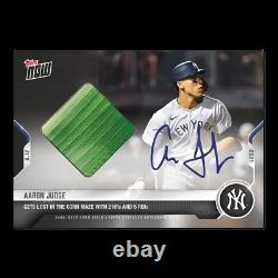 2021 Topps Now Card 651A AARON JUDGE Auto Corn Relic /99 Field Of Dreams Game