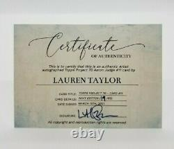 2021 Topps Project 70 Aaron Judge A/A Edition signed by Lauren Taylor 19/99