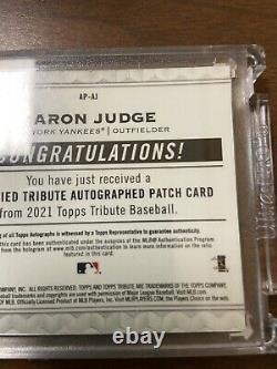 2021 Topps Tribute Aaron Judge Patch Auto Yankees #/50