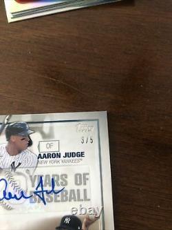 2021 topps series 2 70 years of baseball dual auto aaron judge gerrit cole 3/5